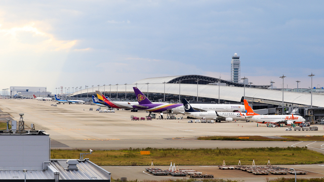 A view from Osaka Kansai International Airport