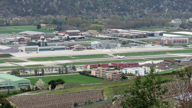 A view from Sion Airport