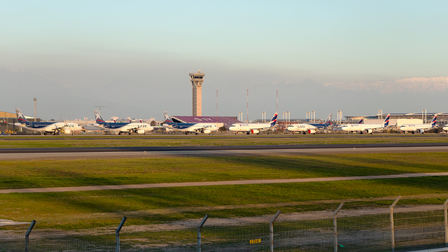 A view from Santiago International Airport