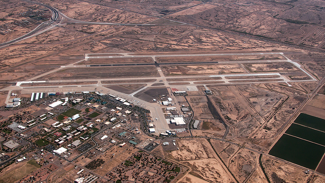 A view from Phoenix Mesa Gateway Airport