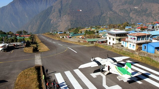 A view from Lukla Tenzing Hillary Airport