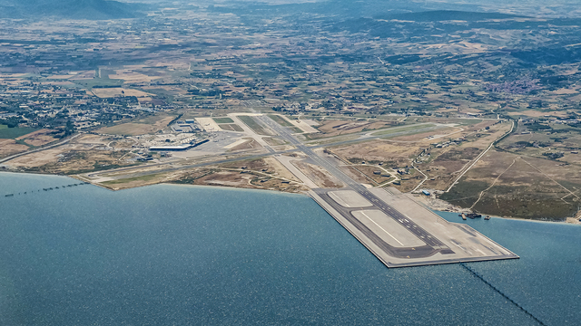 A view from Thessaloniki International Airport