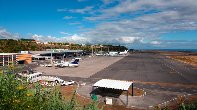 A view from Ponta Delgada Joao Paulo II Airport