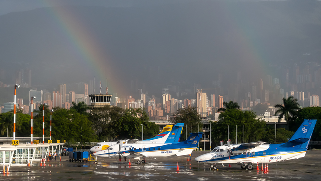A view from Medellin Enrique Olaya Herrera Airport