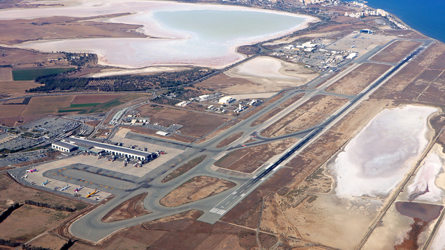 A view from Larnaca International Airport