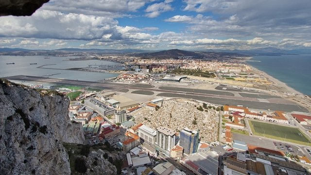 A view from Gibraltar Airport