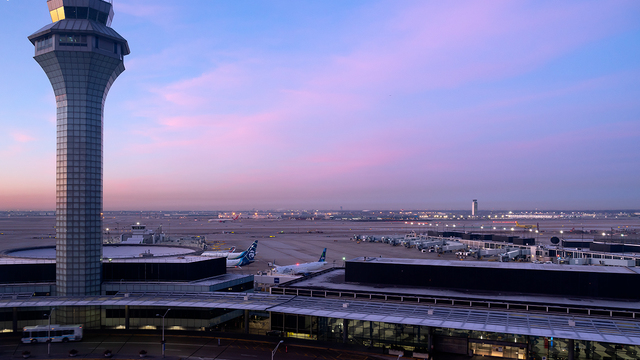 A view from Chicago O'Hare International Airport