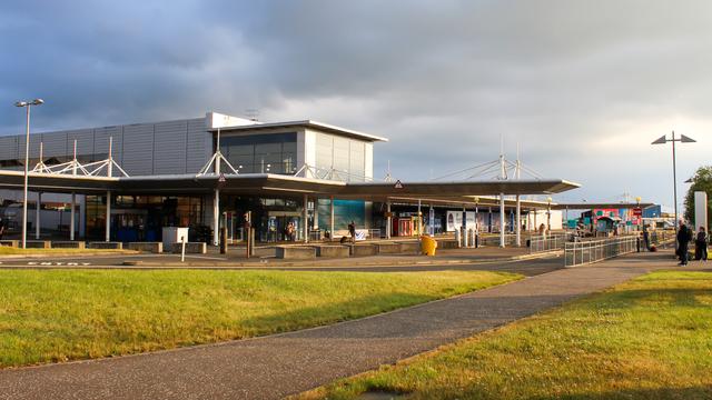 A view from Belfast International Airport
