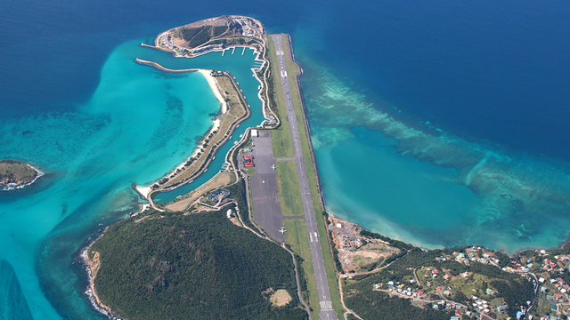 A view from Canouan Airport