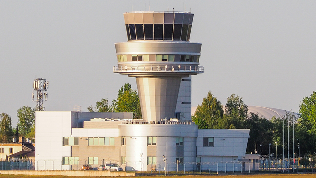 A view from Poznan Lawica Airport
