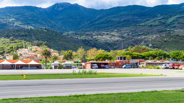 A view from Elba Marina di Campo Airport