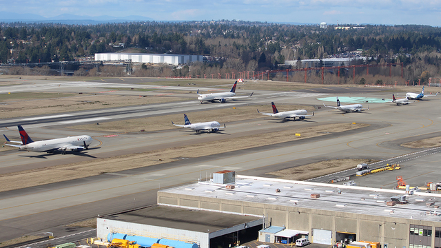 A view from Seattle Tacoma International Airport
