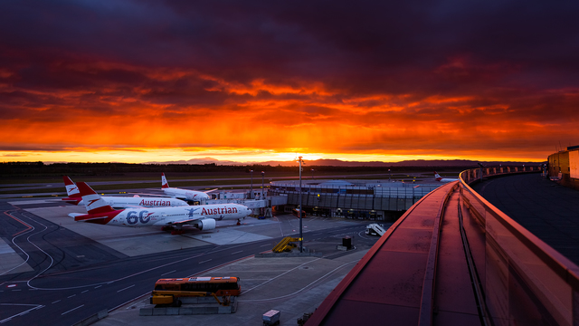 A view from Vienna International Airport