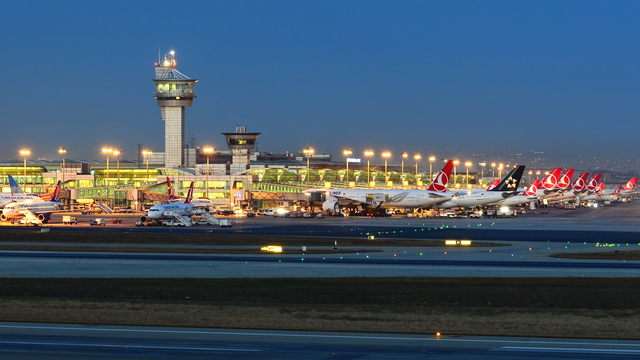 A view from Istanbul Ataturk Airport