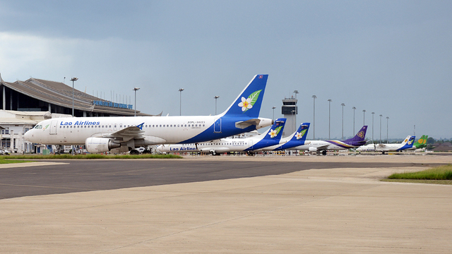 A view from Vientiane Wattay International Airport