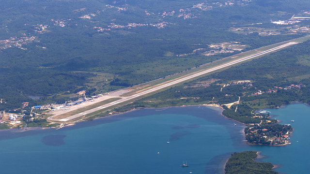 A view from Tivat Airport