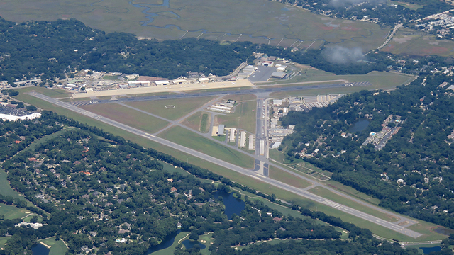 A view from Brunswick Malcolm McKinnon Airport