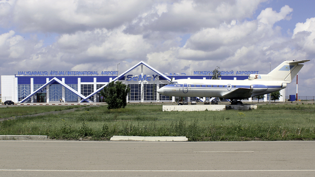 A view from Semipalatinsk Semey Airport