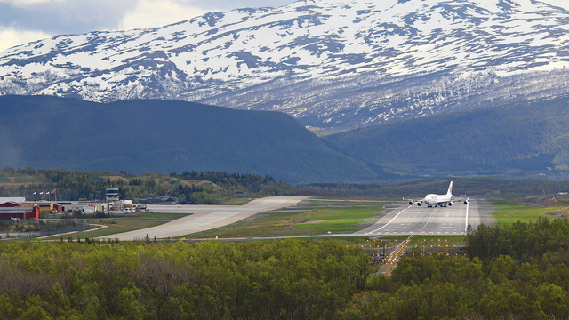 A view from Evenes Harstad Narvik Airport