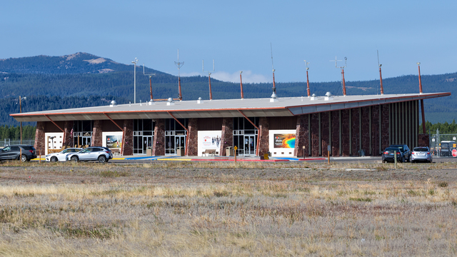 A view from West Yellowstone Airport