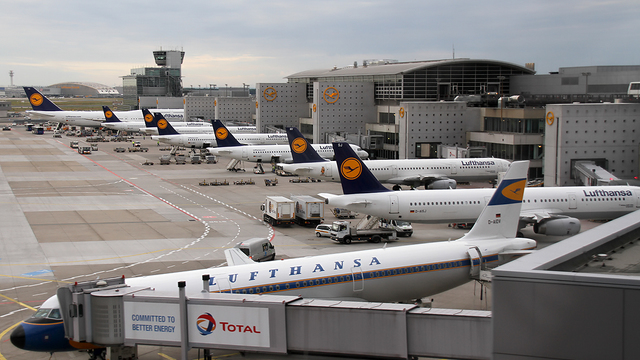 A view from Frankfurt Airport