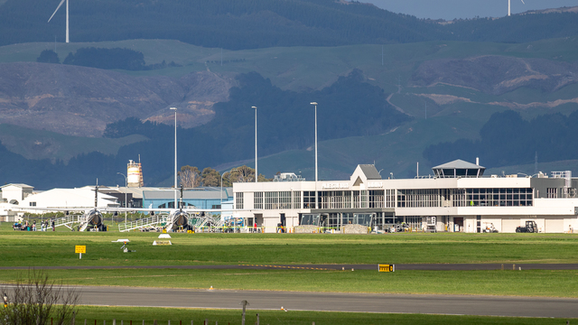 A view from Palmerston North International Airport