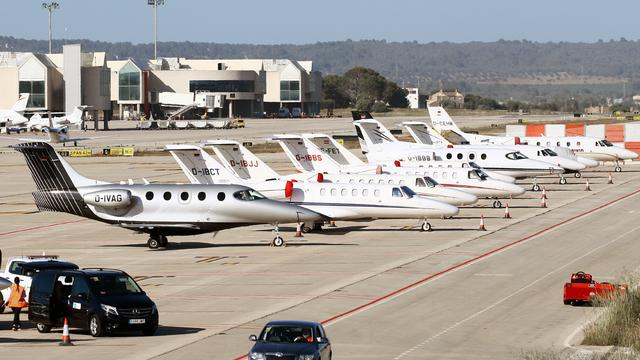 A view from Palma de Mallorca Airport