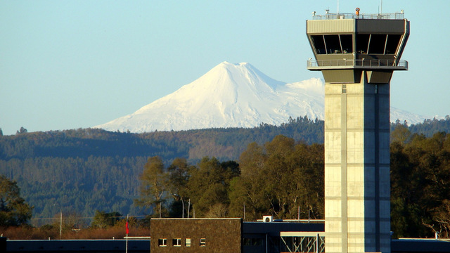 A view from Temuco Airport