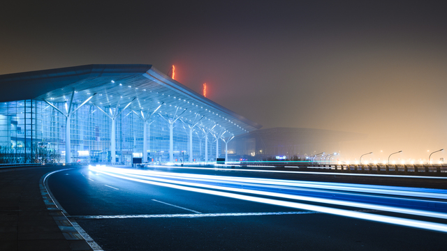 A view from Tianjin Binhai International Airport