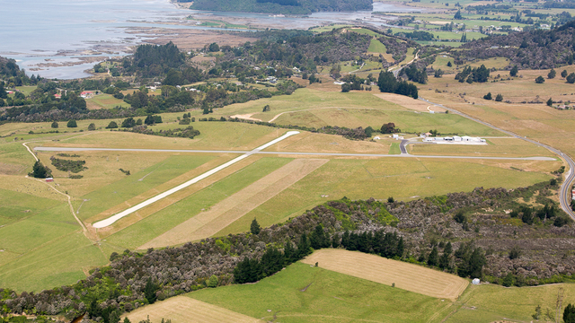 A view from Takaka Airport