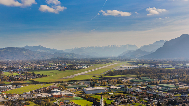 A view from Salzburg Airport