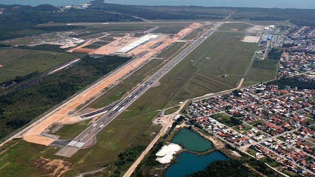 A view from Florianopolis Hercilio Luz International Airport