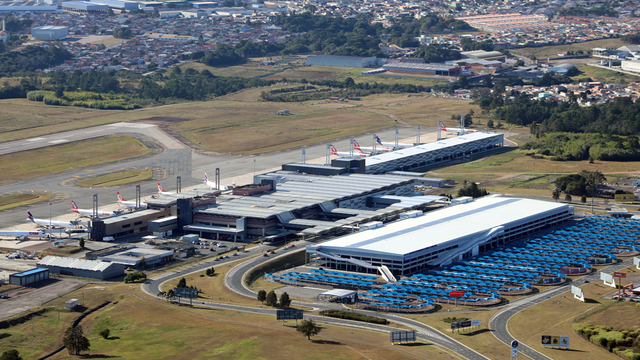 A view from Curitiba Afonso Pena International Airport