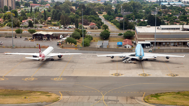 A view from Johannesburg OR Tambo International Airport