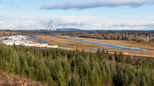 A view from Nanaimo Airport