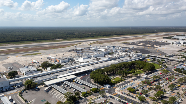 A view from Cancun International Airport