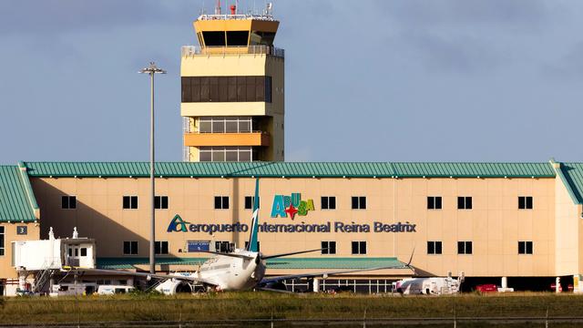 A view from Oranjestad Queen Beatrix International Airport