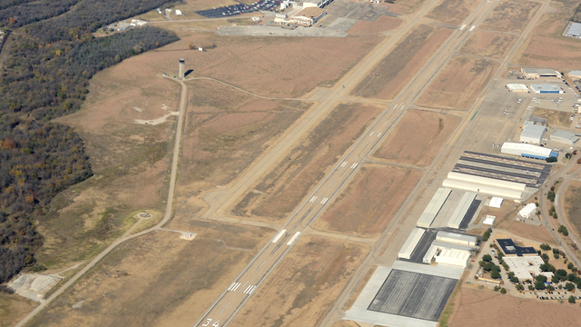A view from Arlington Municipal Airport