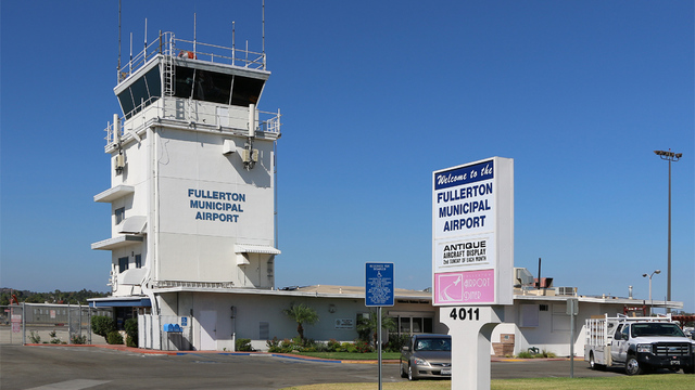 A view from Fullerton Municipal Airport