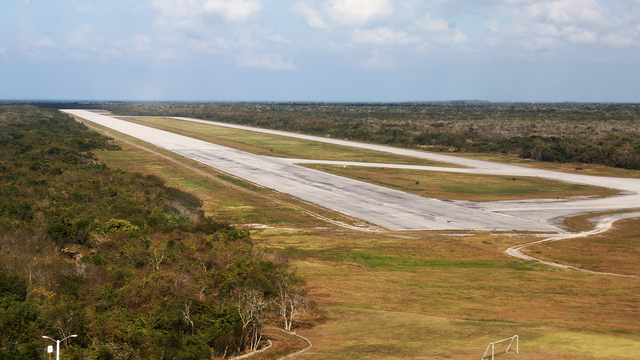 A view from Cozumel International Airport