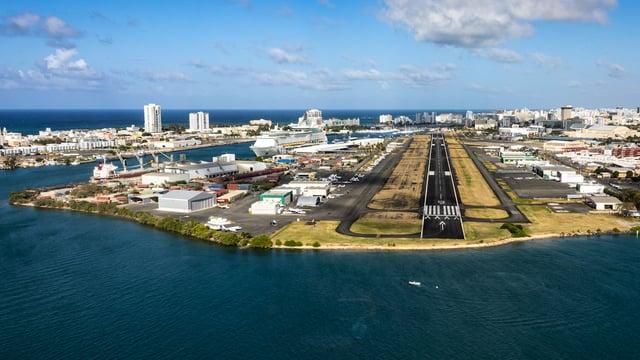 A view from San Juan Fernando Luis Ribas Dominicci Airport