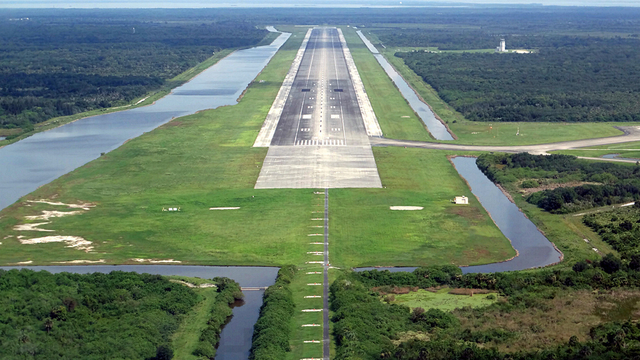 A view from Shuttle Landing Facility
