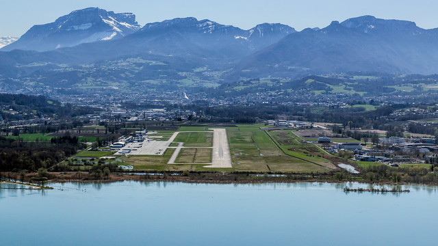 A view from Chambery Airport