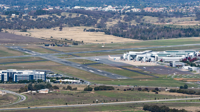 A view from Canberra International Airport