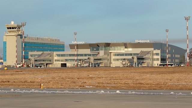A view from Khabarovsk Novy Airport