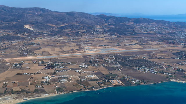 A view from Paros National Airport