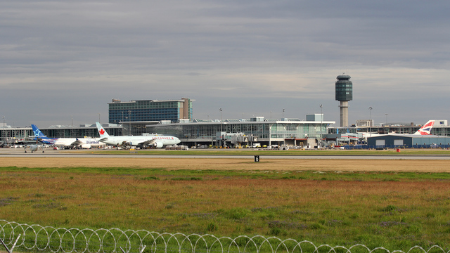 A view from Vancouver International Airport