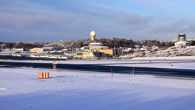 A view from Stockholm Bromma Airport