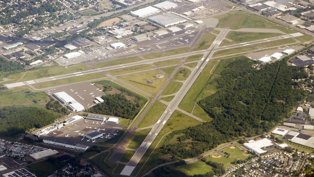 A view from Teterboro Airport