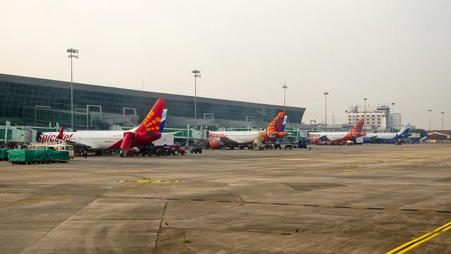 A view from Kolkata International Airport